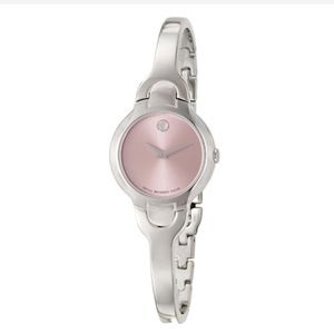 Movado Kara Women's Pink Dial Steel Watch- New